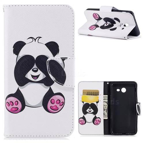 Lovely Panda Leather Wallet Case for Samsung Galaxy J5 2017 J5 US Edition