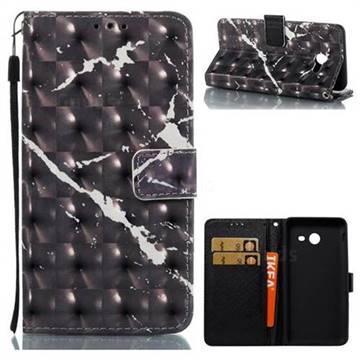 Black Marble 3D Painted Leather Wallet Case for Samsung Galaxy J5 2017 US Edition