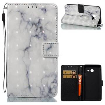 White Gray Marble 3D Painted Leather Wallet Case for Samsung Galaxy J5 2017 US Edition