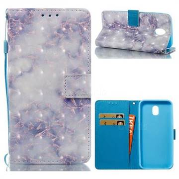 Green Gray Marble 3D Painted Leather Wallet Case for Samsung Galaxy J5 2017 J530