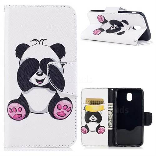 Lovely Panda Leather Wallet Case for Samsung Galaxy J5 2017 J530