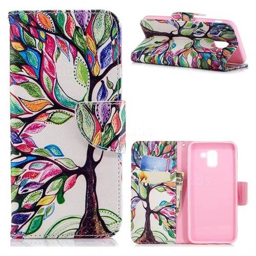 The Tree of Life Leather Wallet Case for Samsung Galaxy J6 (2018) SM-J600F