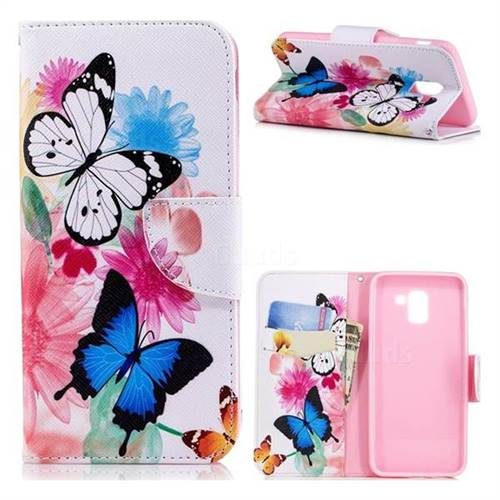 Vivid Flying Butterflies Leather Wallet Case for Samsung Galaxy J6 (2018) SM-J600F