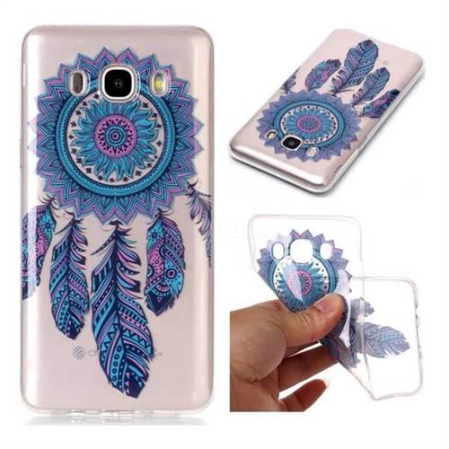 Blue Wind Chimes Super Clear Soft TPU Back Cover for Samsung Galaxy J7 2016 J710