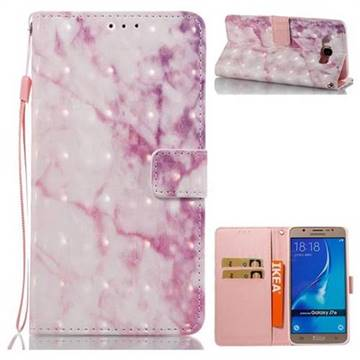 Pink Marble 3D Painted Leather Wallet Case for Samsung Galaxy J7 2016 J710