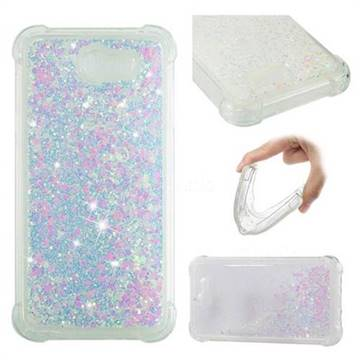 Dynamic Liquid Glitter Sand Quicksand Star TPU Case for Samsung Galaxy J7 2017 Halo US Edition - Pink