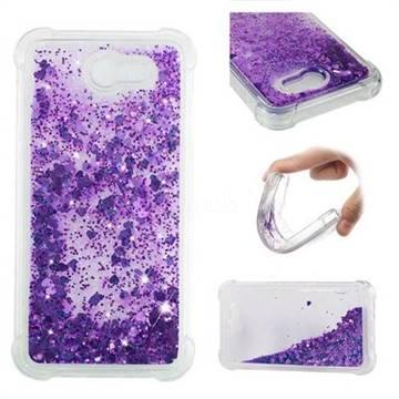 Dynamic Liquid Glitter Sand Quicksand Star TPU Case for Samsung Galaxy J7 2017 Halo US Edition - Purple