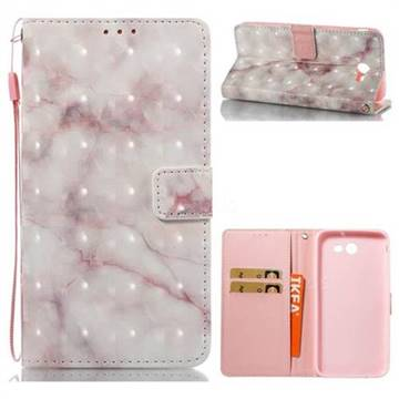 Beige Marble 3D Painted Leather Wallet Case for Samsung Galaxy J7 2017 Halo