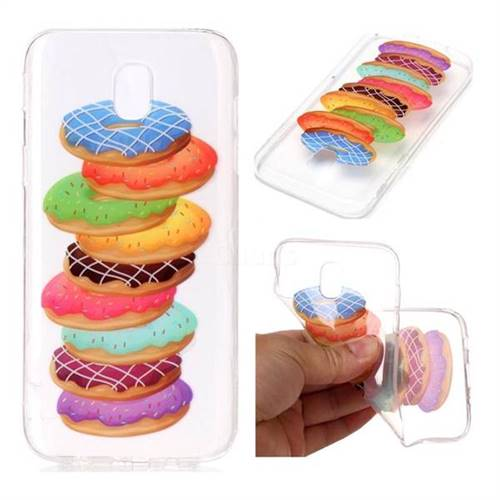 Melaleuca Donuts Super Clear Soft TPU Back Cover for Samsung Galaxy J7 2017 J730 Eurasian