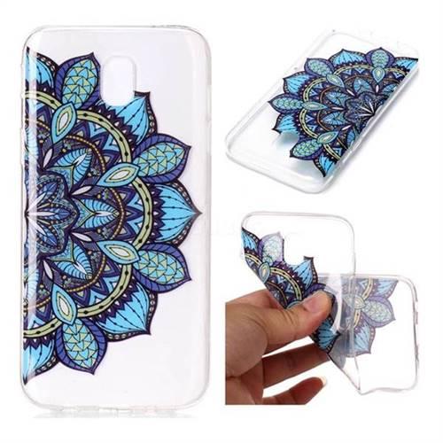 Peacock flower Super Clear Soft TPU Back Cover for Samsung Galaxy J7 2017 J730 Eurasian