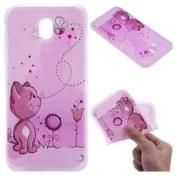 Cat and Bee 3D Relief Matte Soft TPU Back Cover for Samsung Galaxy J7 2017 J730 Eurasian