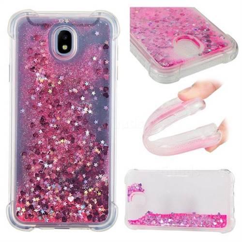 Dynamic Liquid Glitter Sand Quicksand TPU Case for Samsung Galaxy J7 2017 J730 Eurasian - Pink Love Heart