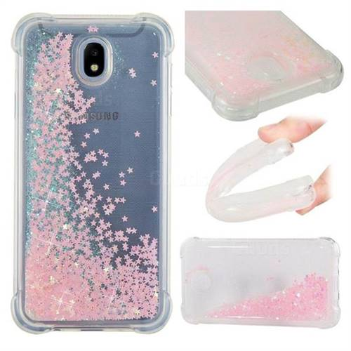 Dynamic Liquid Glitter Sand Quicksand TPU Case for Samsung Galaxy J7 2017 J730 Eurasian - Silver Powder Star