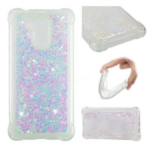 Dynamic Liquid Glitter Sand Quicksand Star TPU Case for Huawei Enjoy 6s Honor 6C Nova Smart - Pink