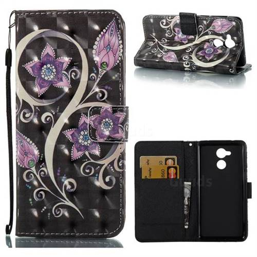 Peacock Flower 3D Painted Leather Wallet Case for Huawei Enjoy 6s Honor 6C Nova Smart