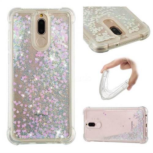 Dynamic Liquid Glitter Sand Quicksand Star TPU Case for Huawei Mate 10 Lite / Nova 2i / Horor 9i / G10 - Pink