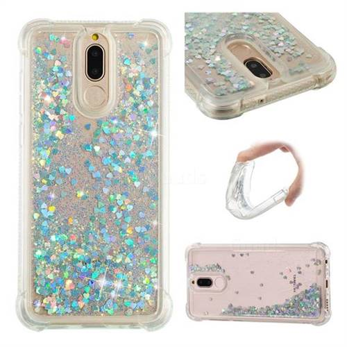 Dynamic Liquid Glitter Sand Quicksand Star TPU Case for Huawei Mate 10 Lite / Nova 2i / Horor 9i / G10 - Silver