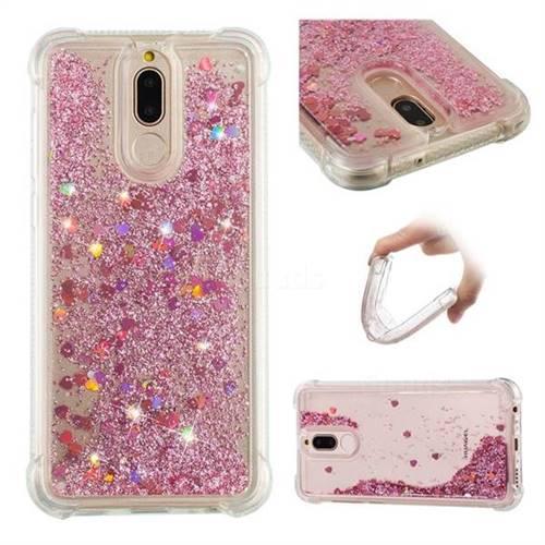 Dynamic Liquid Glitter Sand Quicksand Star TPU Case for Huawei Mate 10 Lite / Nova 2i / Horor 9i / G10 - Diamond Rose