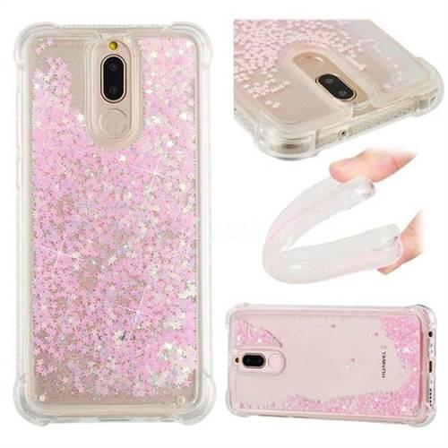 Dynamic Liquid Glitter Sand Quicksand TPU Case for Huawei Mate 10 Lite / Nova 2i / Horor 9i / G10 - Silver Powder Star
