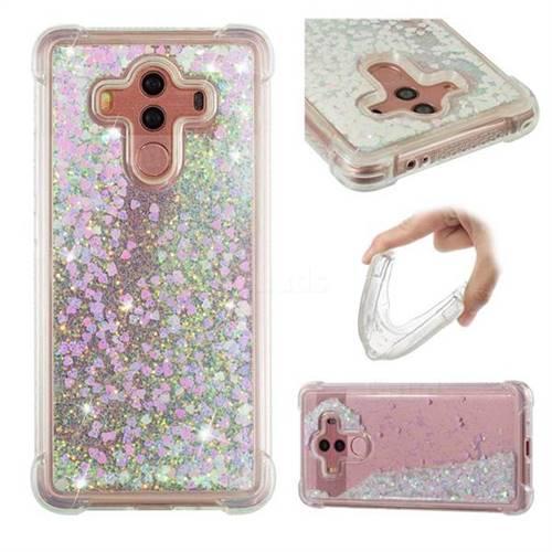 Dynamic Liquid Glitter Sand Quicksand Star TPU Case for Huawei Mate 10 Pro(6.0 inch) - Pink