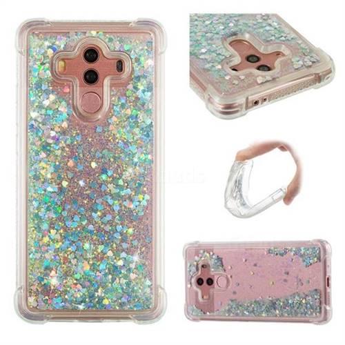 Dynamic Liquid Glitter Sand Quicksand Star TPU Case for Huawei Mate 10 Pro(6.0 inch) - Silver