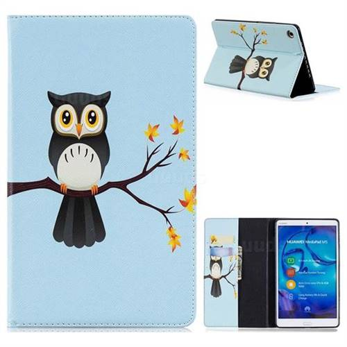 Owl on Tree Folio Stand Leather Wallet Case for Huawei MediaPad M5 8 inch
