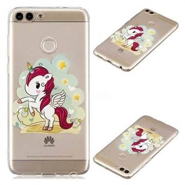 Cloud Star Unicorn Super Clear Soft TPU Back Cover for Huawei P Smart(Enjoy 7S)