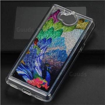 Phoenix Glassy Glitter Quicksand Dynamic Liquid Soft Phone Case for Huawei Y5 (2017)