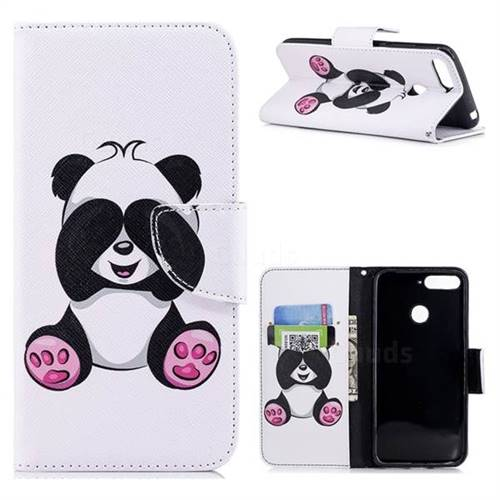 Lovely Panda Leather Wallet Case for Huawei Y6 (2018)