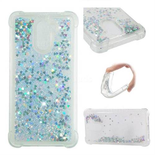 Dynamic Liquid Glitter Sand Quicksand Star TPU Case for Huawei Y7 - Silver