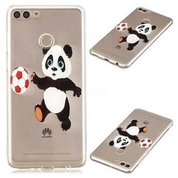 Football Panda Super Clear Soft TPU Back Cover for Huawei Y9 (2018)