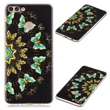 Circle Butterflies Super Clear Soft TPU Back Cover for Huawei Y9 (2018)