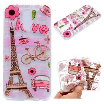 Love Eiffel Tower Super Clear Soft TPU Back Cover for LG K10 2017