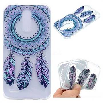 Blue Feather Campanula Super Clear Soft TPU Back Cover for LG K10 2017