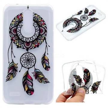 Feather Black Wind Chimes Super Clear Soft TPU Back Cover for LG K10 2017