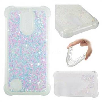 Dynamic Liquid Glitter Sand Quicksand Star TPU Case for LG K10 2017 - Pink