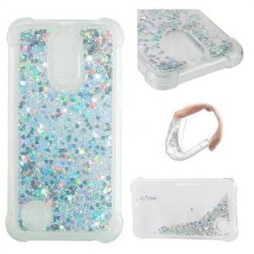 Dynamic Liquid Glitter Sand Quicksand Star TPU Case for LG K10 2017 - Silver