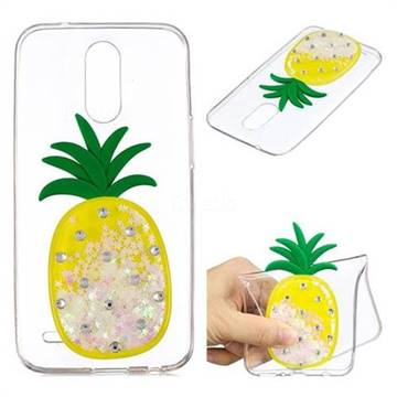 White Pineapple Liquid Quicksand Soft 3D Cartoon Case for LG K10 2017