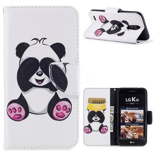 Lovely Panda Leather Wallet Case for LG K10 2017