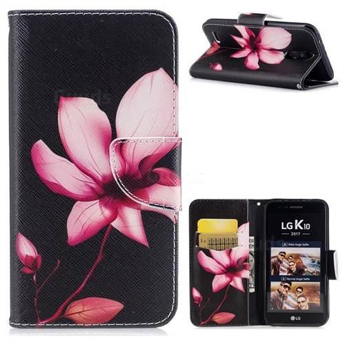 Lotus Flower Leather Wallet Case for LG K10 2017