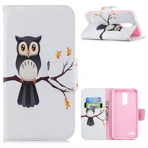 Owl on Tree Leather Wallet Case for LG K10 (2018)