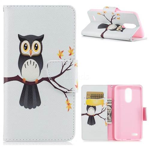 Owl on Tree Leather Wallet Case for LG K8 2017 M200N EU Version (5.0 inch)