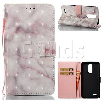 Beige Marble 3D Painted Leather Wallet Case for LG K8 2017