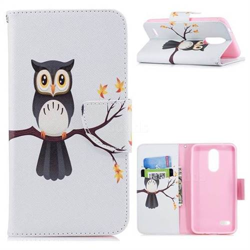 Owl on Tree Leather Wallet Case for LG K8 (2018)