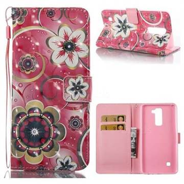 Tulip Flower 3D Painted Leather Wallet Case for LG Stylo 2 LS775 Criket