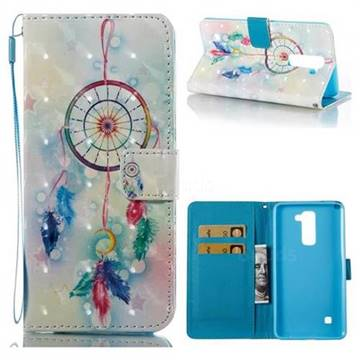 Feather Wind Chimes 3D Painted Leather Wallet Case for LG Stylo 2 LS775 Criket