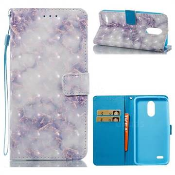 Green Gray Marble 3D Painted Leather Wallet Case for LG Stylus 3 Stylo3 K10 Pro LS777 M400DK