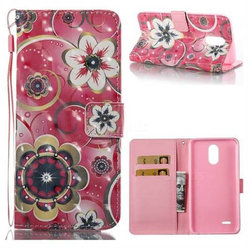 Tulip Flower 3D Painted Leather Wallet Case for LG Stylus 3 Stylo3 K10 Pro LS777 M400DK