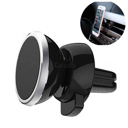 Magnetic Metal Car Air Vent 360 Degree Rotation Mobile Phone Holder