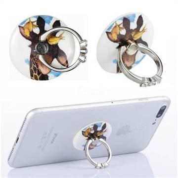 Flexible Universal 360 Rotation Stylish Holder Finger Ring Kickstand for Mobile Phone Folding - Birds Giraffe